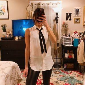 H&M Tie Button Down Blouse